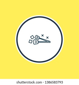 illustration of ice tongs icon line. Beautiful cutlery element also can be used as utensil icon element.