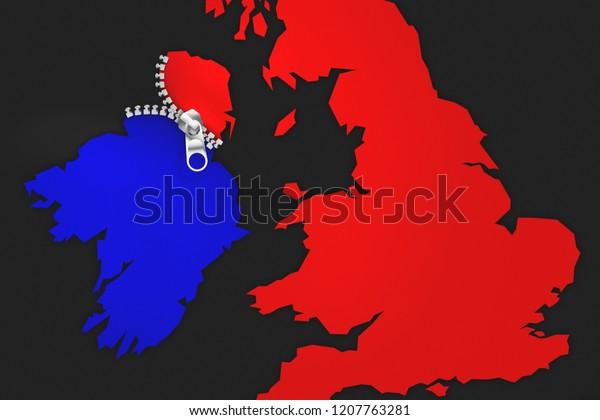 Illustration idea for Ireland being Brexit's undoing.