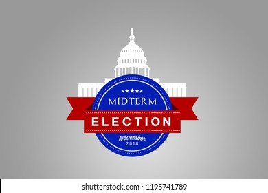 Illustration idea for the November 2018 US Midterm Election.