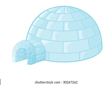 an illustration of an igloo