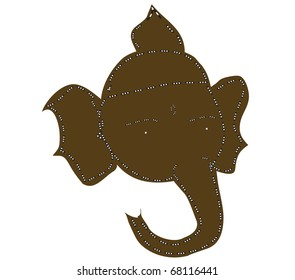Illustration of indian god Lord Ganesh