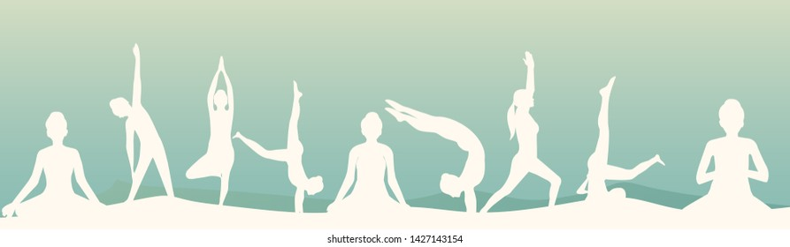 Yoga Banner Images Stock Photos Vectors Shutterstock