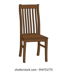 Illustration of Isolated Cartoon Chair. JPEG.