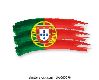 Illustration of Isolated hand drawn Portuguese flag