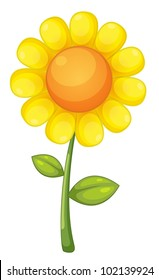 illustration of an isolated sunflower - EPS VECTOR format also available in my portfolio.