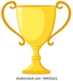 illustration of isolated trophy on white background