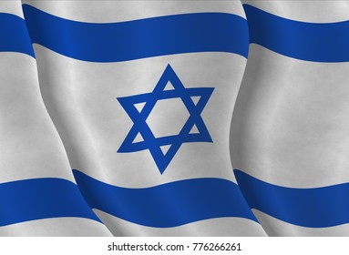 Illustration of an Israeli Flag