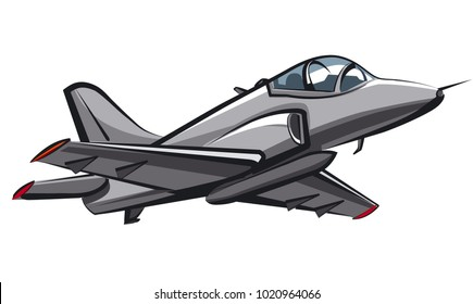 illustration of jet fighter