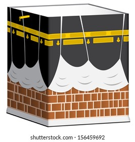 Illustration of Kaaba in Mecca isolated