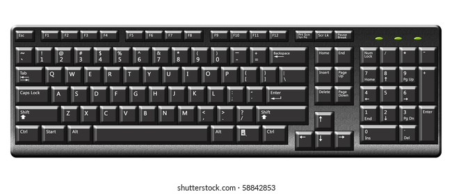 Illustration of keyboard