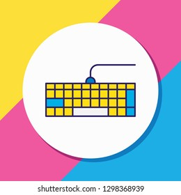 illustration of keypad icon colored line. Beautiful notebook element also can be used as qwerty icon element.