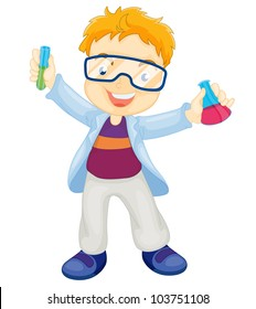Illustration of a kid scientist - EPS VECTOR format also available in my portfolio.