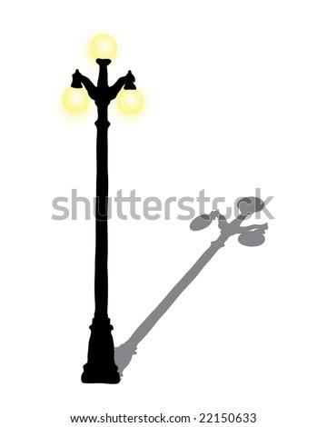 Illustration Lamp Post Shadow Stock Illustration 22150633 Shutterstock