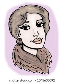 Illustration of Lou Andreas-Salomé.