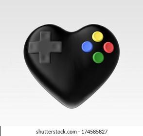 illustration of love for video games