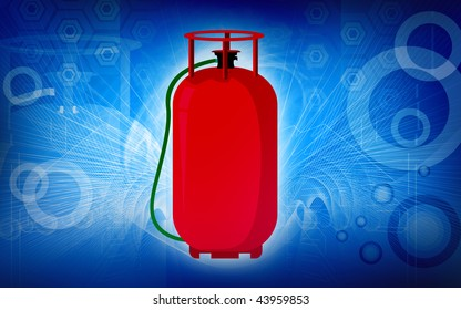 Illustration of a LPG cylinder