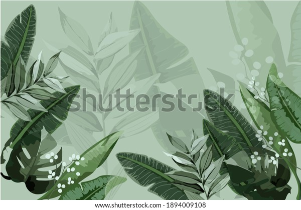 Illustration of magnificent green plants.