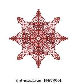 Illustration of a mandala / Zentangle