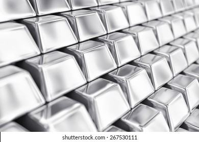Illustration of a many ingots of fine silver