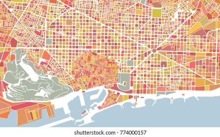 Mapa Centro Barcelona Images Stock Photos Vectors Shutterstock