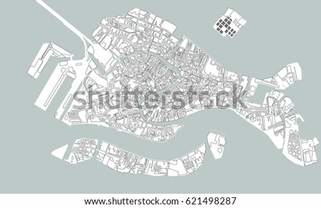 Royalty Free Stock Illustration Of Illustration Map City Venice