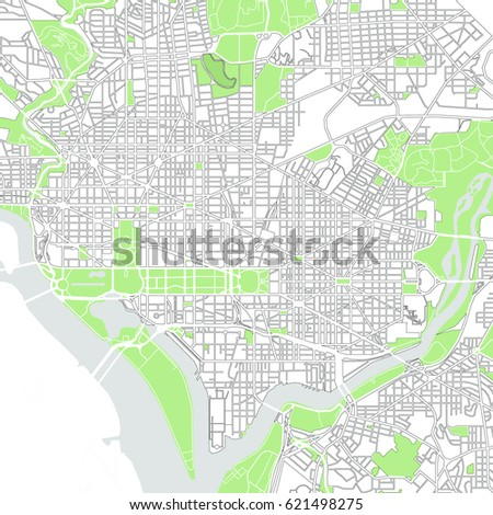 Illustration Map City Washington DC USA Stock Illustration 621498275 on