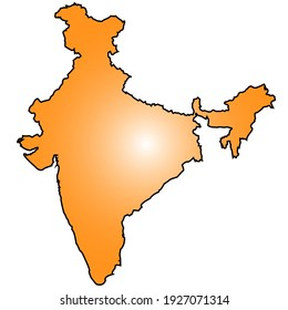 Illustration of map of India