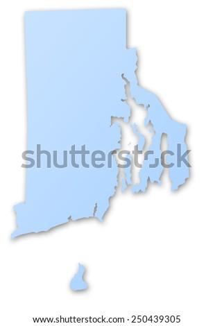 Illustration Map State Rhode Island USA Stock Illustration 250439305 ...