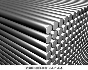 An illustration of metal rod background