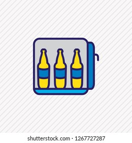 illustration of minibar icon colored line. Beautiful hotel element also can be used as mini fridge icon element.