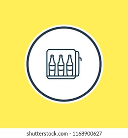 illustration of minibar icon line. Beautiful hotel element also can be used as mini fridge icon element.