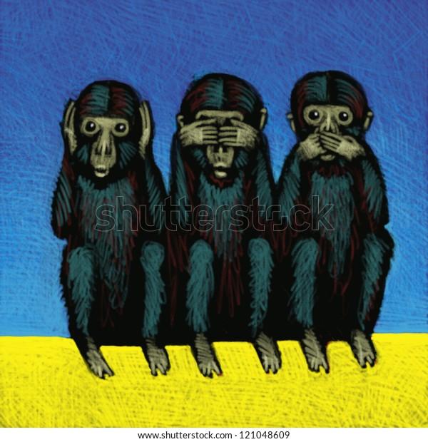 illustration of Monkeys