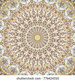 Illustration of a mosaic image, an abstract kaleidoscope pattern . The background mosaic.