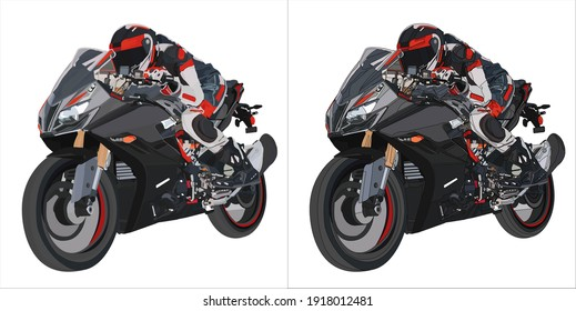 Illustration of the motorcycle .