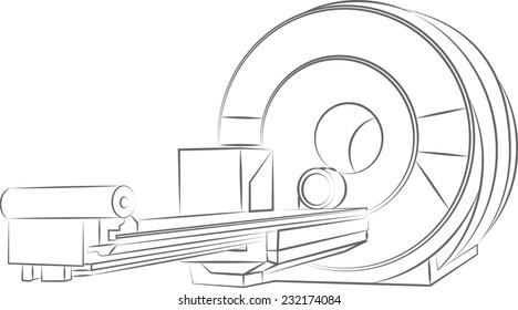 Illustration of an MRI scanner