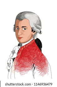 illustration musician mozart music