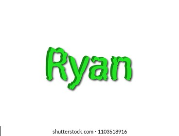 Illustration, name ryan isolated in a white background composition
