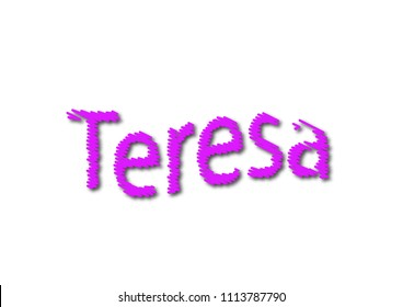 Teresa Name Images, Stock Photos & Vectors | Shutterstock