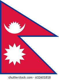 Illustration of the national flag of Nepal