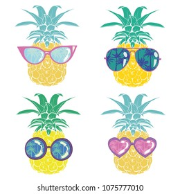 illustration nature pineapple summer tropical  drawing fresh healthy isolated plant sweet white dessert hawaii leaf