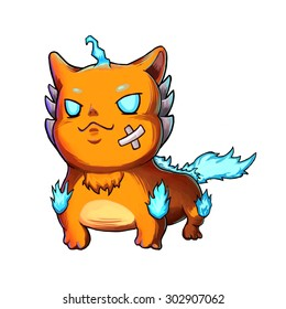 """Illustration: Naughty Monster: The Spirit Beast. Main Character / Leading Role Design in a Fantastic Imaginary World Called """"Monster City"""". Cartoon / Fantastic Style"""