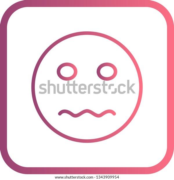 Illustration Nervous Emoji Icon Stock Illustration 1343909954