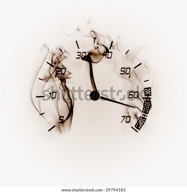 Illustration Odometer Smoke Stock Illustration 29794183