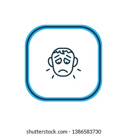 illustration of offence icon line. Beautiful emotions element also can be used as sorrow icon element.