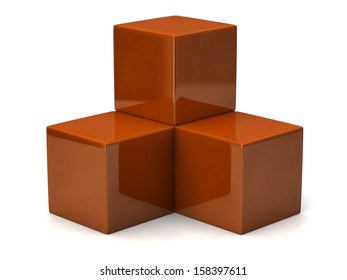 Illustration of orange cubes