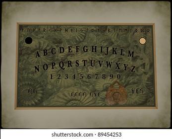 An illustration of ouija board.