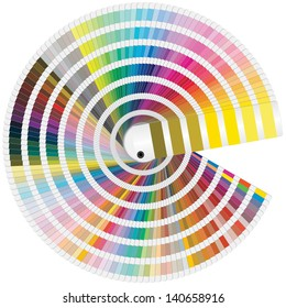 illustration of pantone colors for print