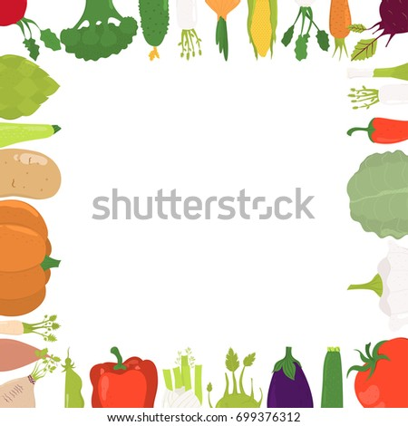 illustration pattern organic vegetable template round stock