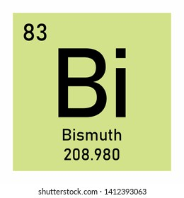 Illustration of the periodic table Bismuth chemical symbol