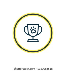 illustration of pet cup icon line. Beautiful fauna element also can be used as trophy icon element.